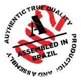 Assembled in Brazil rubber stamp Stock Photos