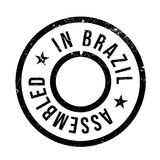 Assembled in Brazil rubber stamp Royalty Free Stock Photos