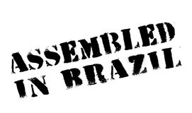 Assembled in Brazil rubber stamp stock illustration