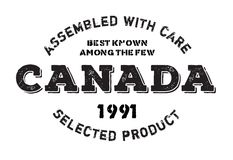 Assembled in Canada rubber stamp Stock Photography