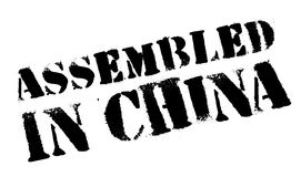 Assembled in China rubber stamp Stock Images