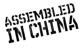 Assembled in China rubber stamp Royalty Free Stock Image