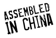 Assembled in China rubber stamp Stock Photo
