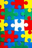 Assembled color puzzle. As background Stock Photography