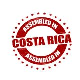 Assembled in Costa Rica. Stamp with text assembled in Costa Rica inside,  illustration Stock Image