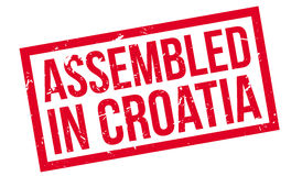 Assembled in Croatia rubber stamp Stock Image