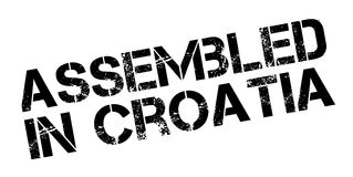 Assembled in Croatia rubber stamp Royalty Free Stock Images