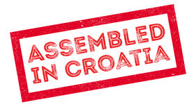 Assembled in Croatia rubber stamp Stock Images