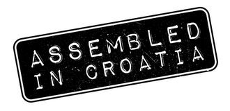 Assembled in Croatia rubber stamp Royalty Free Stock Photography