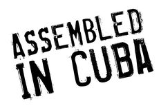 Assembled in Cuba rubber stamp Stock Photo