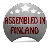 Assembled in Finland. Rubber stamp with text assembled in Finland inside,  illustration Royalty Free Stock Photography