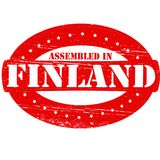 Assembled in Finland. Rubber stamp with text assembled in Finland inside,  illustration Stock Photo