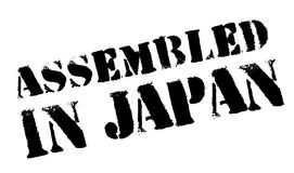Assembled in Japan rubber stamp Stock Photos