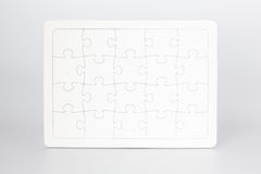 Upright Blank Jigsaw Puzzle Stock Images