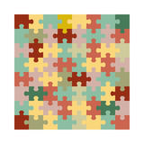 Assembled jigsaw puzzle Royalty Free Stock Images
