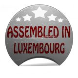 Assembled in Luxembourg. Rubber stamp with text assembled in Luxembourg inside,  illustration Royalty Free Stock Photos
