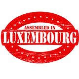 Assembled in Luxembourg. Rubber stamp with text assembled in Luxembourg inside,  illustration Stock Photo