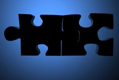 Assembled puzzle pieces Royalty Free Stock Photography