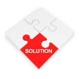 Assembled solution puzzle. royalty free stock image