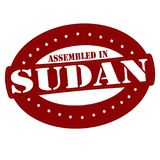 Assembled in Sudan. Stamp with text assembled in Sudan inside,  illustration Royalty Free Stock Image