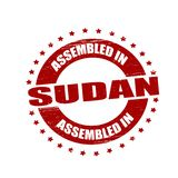 Assembled in Sudan. Stamp with text assembled in Sudan inside,  illustration Royalty Free Stock Photography