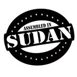 Assembled in Sudan. Stamp with text assembled in Sudan inside,  illustration Stock Photography