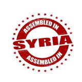Assembled in Syria. Stamp with text assembled in Syria inside,  illustration Royalty Free Stock Photo