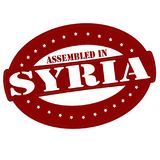 Assembled in Syria. Stamp with text assembled in Syria inside,  illustration Royalty Free Stock Image