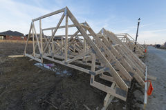 Assembled trusses Royalty Free Stock Photos