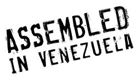 Assembled in Venezuela rubber stamp Royalty Free Stock Photo
