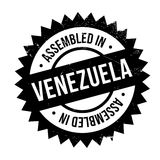 Assembled in Venezuela rubber stamp Stock Image