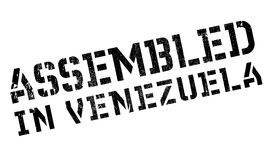 Assembled in Venezuela rubber stamp Royalty Free Stock Images