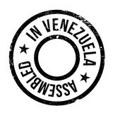 Assembled in Venezuela rubber stamp Royalty Free Stock Image