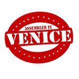 Assembled in Venice. Stamp with text assembled in Venice inside,  illustration Stock Images