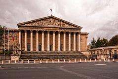 Assemblee Nationale - Francuski parlament na chmurnym dniu (palais bourbon) Obrazy Royalty Free
