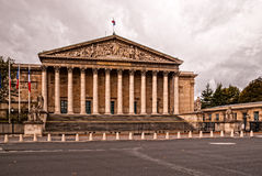 Assemblee Nationale (Palais Bourbon) - the French Parliament on a cloudy day Royalty Free Stock Images
