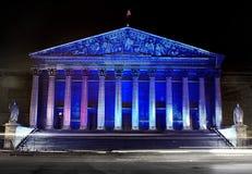 Assemblee Nationale (Palais Bourbon), iluminación Fotos de archivo