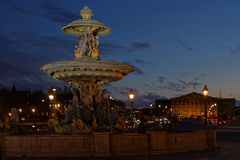 Assemblee Nationale from Place de la Concorde at the blue hour Royalty Free Stock Photography