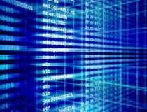 Assembleercode van computerprogramma Stock Foto