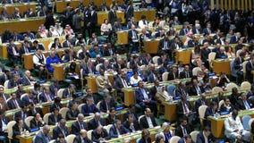 Assembleia geral de United Nations vídeos de arquivo