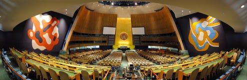 Assembleia geral Salão de United Nations Fotografia de Stock