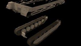 Assembler un char de combat dans les parties dans le mouvement longueur animation banque de vidéos