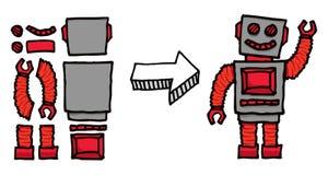 Assembler un robot Illustration de Vecteur