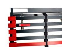 Assemblerend bedlatjes voor latoflex - Bedkader en matrasbasis Stock Foto
