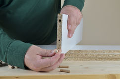 Assembling a Cabinet Elements Stock Photography