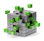 Assembling cube concept Royalty Free Stock Photos