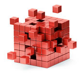 Assembling cube structure concept Royalty Free Stock Photo