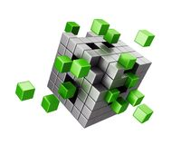 Assembling cube structure Stock Photos