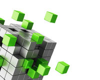 Assembling cube structure template Stock Photo