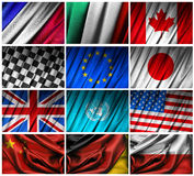 Assembling of flags Stock Photo